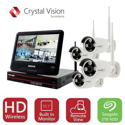Crystal Vision Cvt9604e 3010W 4Ch Hd Wireless Surveillance System Nvr Cctv 2Tb