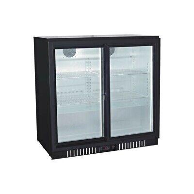 Procool Counter Height Double Sliding Door Back Bar Cooler Beverage Fridge 36 W