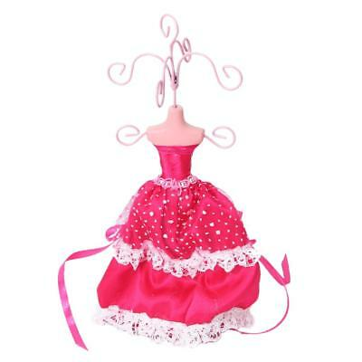 Princess Lace Gown Lady Dress Mannequin Earring Jewelry Display Stand Holder