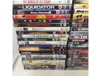 JOB LOT OF 50 DVDS ALL GOOD CONDITION IDEAL FOR CAR BOOT