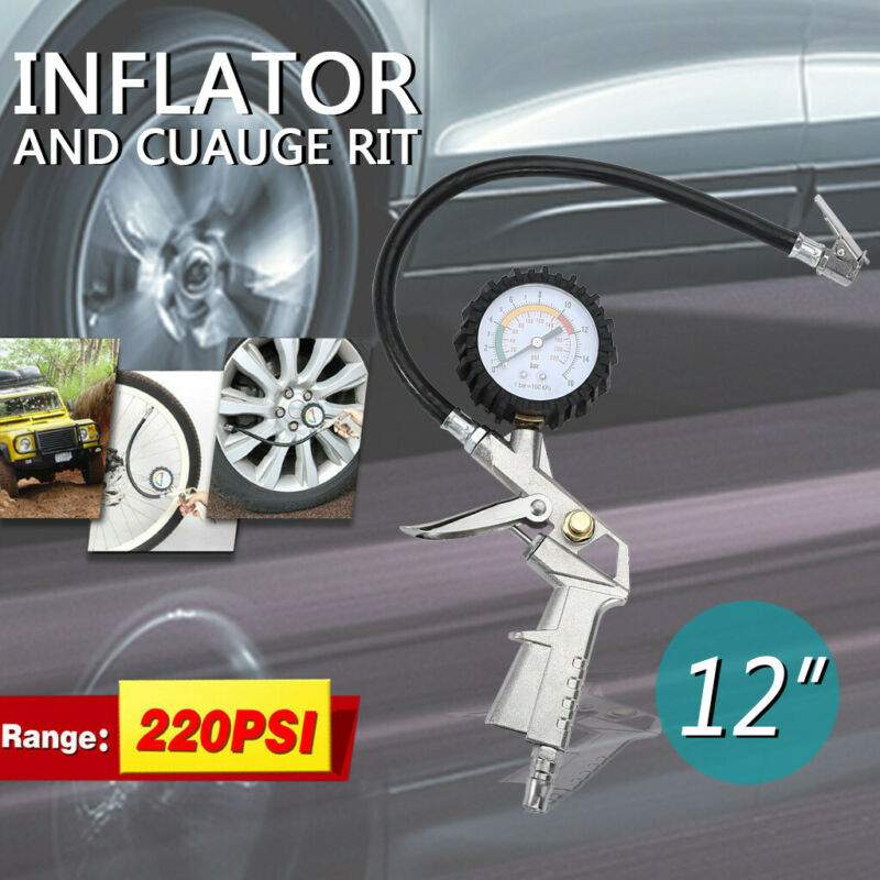 1pc Car Black Air Rubber Hose Lock on Clip Chuck Tire Inflator Self-lockingUULK