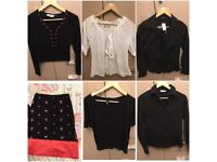 Ladies Size 8 Clothing Bundle tops & skirt