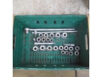 3/4; Drive socketset 26piece