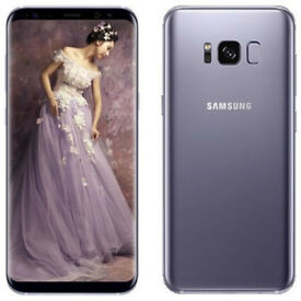 Samsung Galaxy S8 Mobile Phone - Orchid Grey, NEW + case