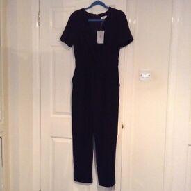 Size 12 Jasper Conran black wrap jump suit
