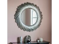 New Lowry round silver mirror list £189 only £115 last few
