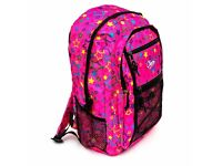 Job Lot 5x Chervi Rucksack Star Pattern Fuchsia Pink