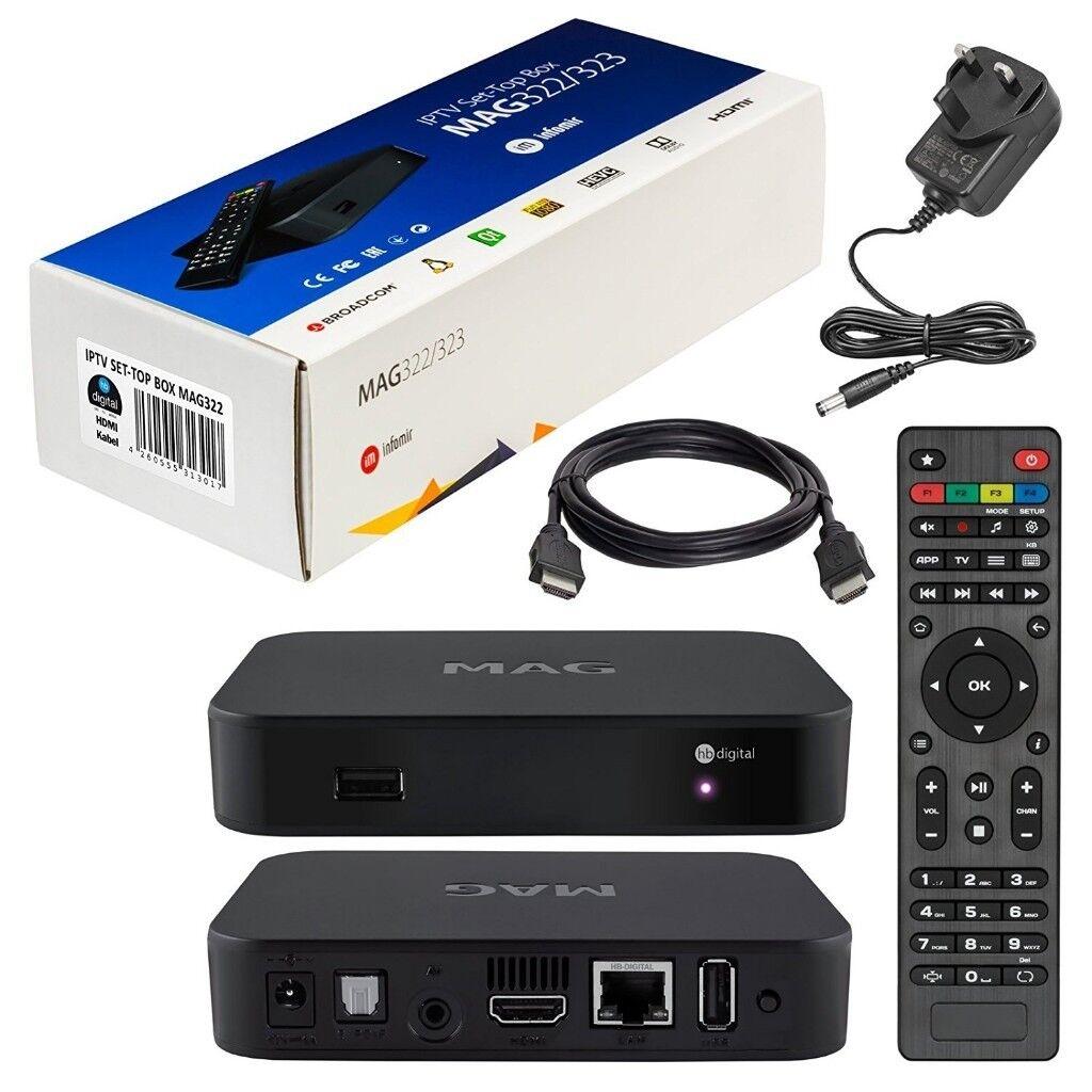GENUINE Infomir MAG349 349 256 Box IPTV Mag256 Mag351 4K MAG322 Mag254 254  322 2018 Model UK Plug | in Walsall, West Midlands | Gumtree