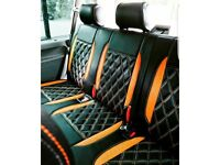 LEATHERETTE SEATCOVERS FOR VOLKSWAGEN TRANSPORTER T3 T4 T5 T6 T7 SHUTTLE ROCK AND ROLL BEDS CUSHIONS
