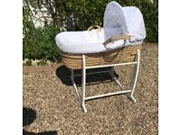Gorgeous Broderie Anglaise Moses Basket