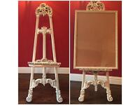 Luxury wedding easel and frame, table planner, menu
