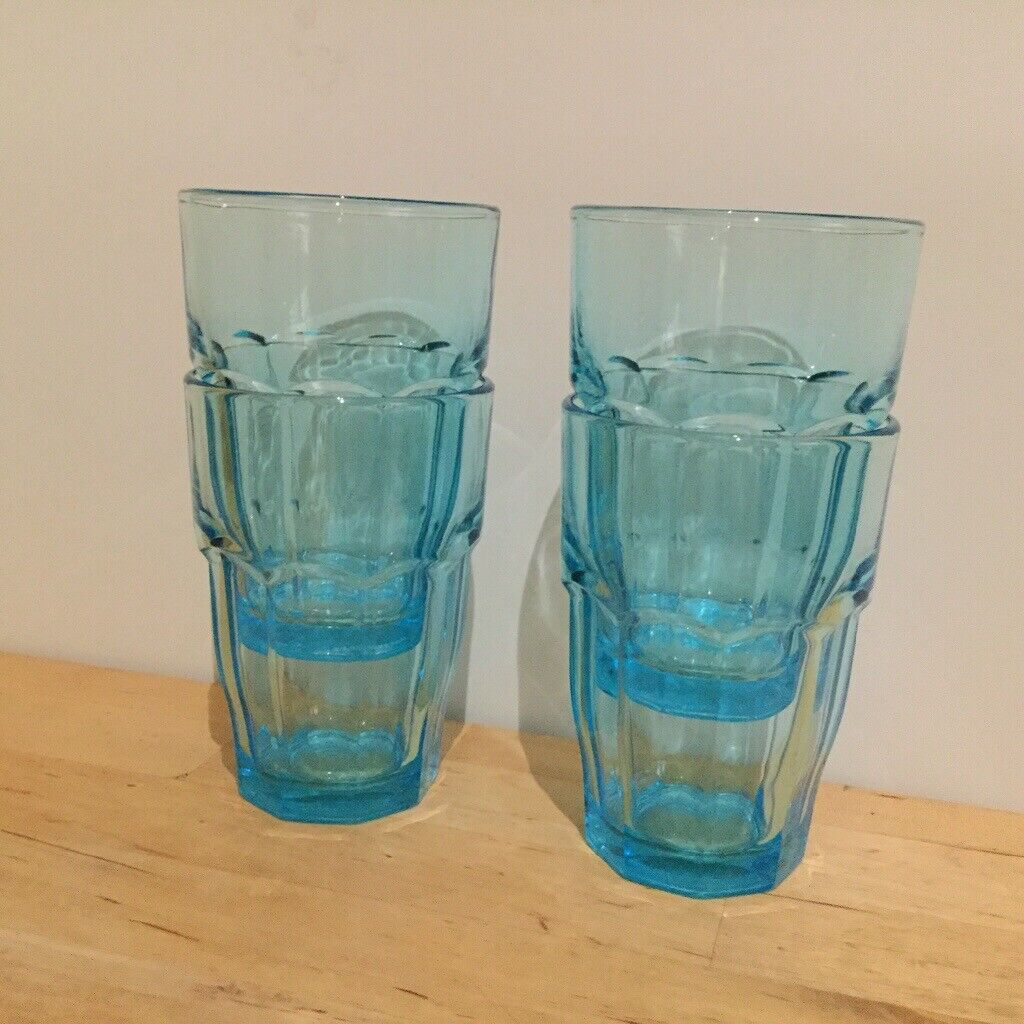 a7aeb164f2c 4 blue IKEA 'pokal' stackable drinking glasses - NB: mix and match any two  £2 items for £3 | in Haymarket, Edinburgh | Gumtree
