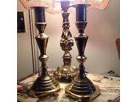 Vintage brass candlesticks really heavy