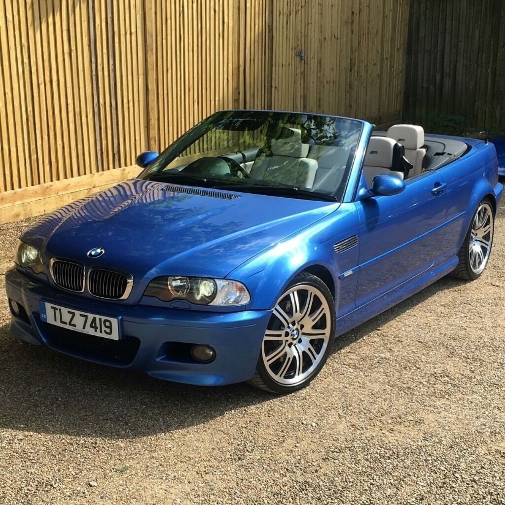 bmw e46 m3 2003 facelift individual convertible estoril blue 12995 in chesham. Black Bedroom Furniture Sets. Home Design Ideas