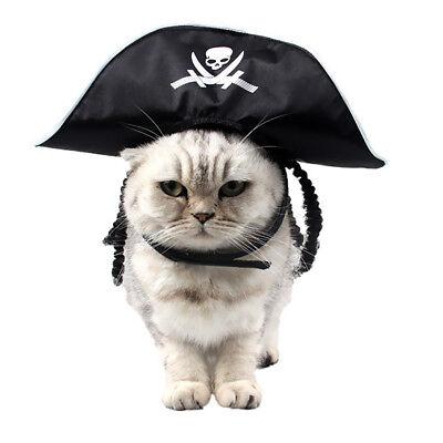 Pirate Pet Costume (Pirate Hat Pet Costume Accessory Funny Pet Clothes Pirate Dog Cat)