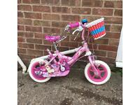 """10"""" kids bike for girl with extra wheels (4 wheels)"""