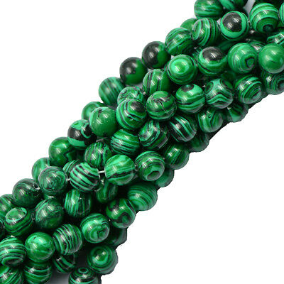 8mm Green Malachite Gemstone Loose Beads Jewelry Bracelet Making Strand Malachite Strand Bracelet