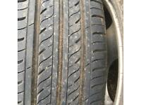 Land Rover Freelander alloy wheels and tyres x 5