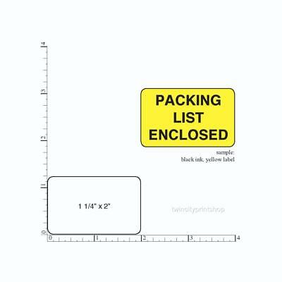 500 Printed Labels Rectangle 1-14 X 2 Custom Business Stickers 1 Ink Color