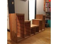 Ikea Trofast wooden stepped storage shelving unit ONLY ONE LEFT!