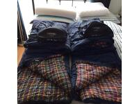 Sleeping bags by Vango 2 adults. Square bottom.