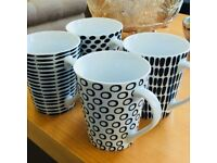 4 Tesco mugs, dishwasher and microwave safe