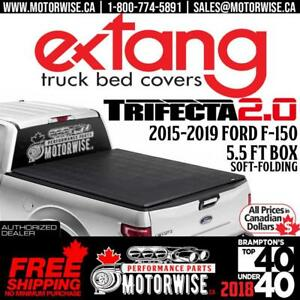 2015-2019 Ford F-150 5.5 ft Bed Extang Trifecta 2.0 Soft Folding Tonneau Cover | Free Shipping | www.motorwise.ca