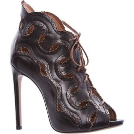 NEW Chatham brown leather heels RRP £1210