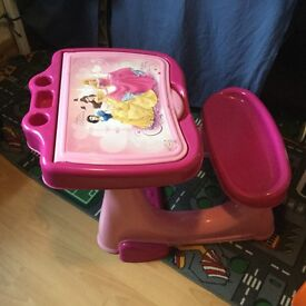 Girls princess desk and chair, in excellent condition, only used at Granny's.