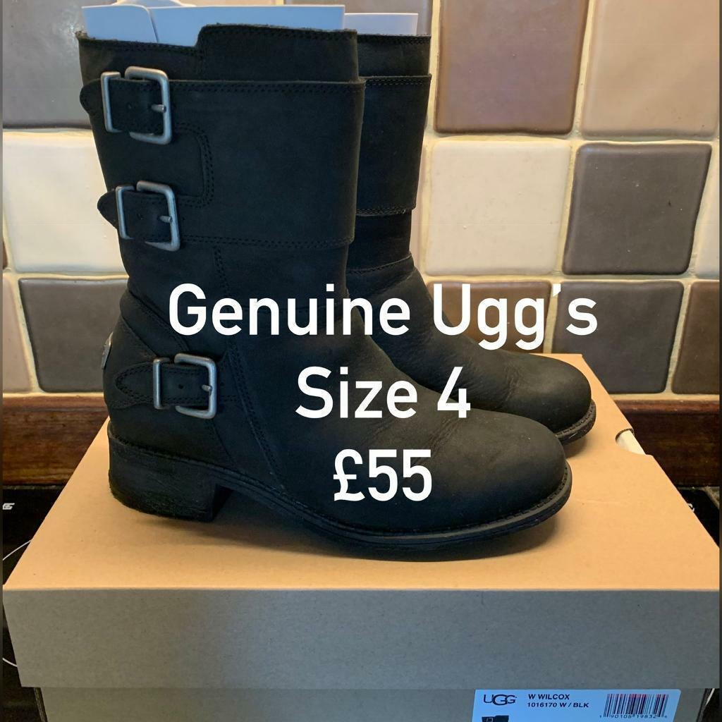 7d4ec91757c Genuine black Ugg boots size 4 | in Attleborough, Norfolk | Gumtree
