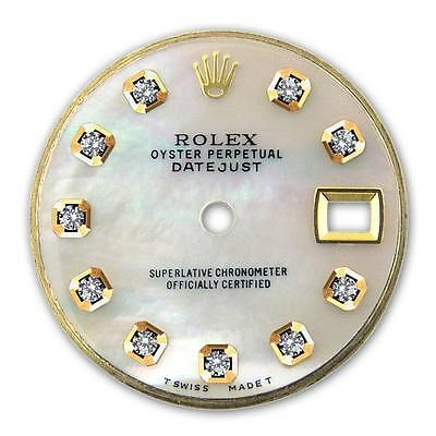Rolex Ladies Datejust 2-Tone White MOP Mother Of Pearl Diamond Dial