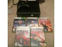 250gb slim Xbox 360 console and games