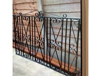 Pair of Black Metal Gates- Bargain!