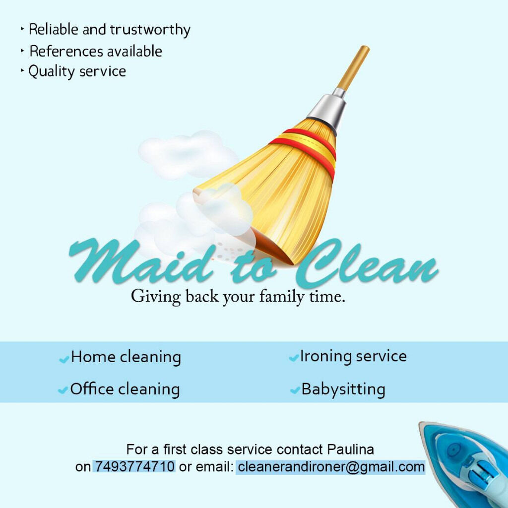 cleaner in west london london gumtree cleaner