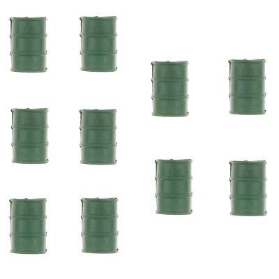 10PCS Military Blockhouse Model Toy Soldiers Army Men ACCS -Oil Barrel