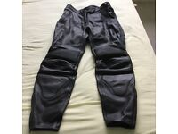 Ladies leather motorbike trousers size 16