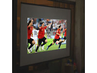 100'' inch Projector Screen Home Cinema Theater Projection Screen Portable 16:9