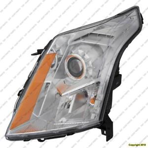 Head Lamp Passenger Side Halogen High Quality Cadillac SRX 2010-2013