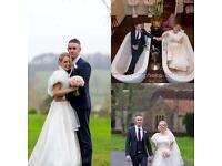 Ivory fluffy wedding shrug