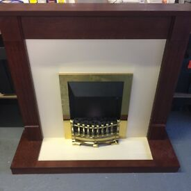 Valor Blenheim 820 Electric Fire with Mahogany finish / cream surround / mantlepiece ... o.n.o