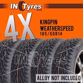 4x 185/60r14 Kingpin Weather Speed Four 1856014 Banger Racing Autograss x4 Tyres