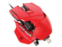 BRAND NEW SEALED Mad Catz R.A.T.7 Gaming Mouse - Red, Local Delivery Available, RRP £90. ONO