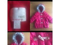 0eb7b57d3 Rrp £28 NEXT baby Girls boys unisex red puffer winter coat jacket ...