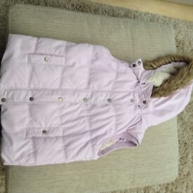 Girls pink Gilet age 12-13 years from Fat Face