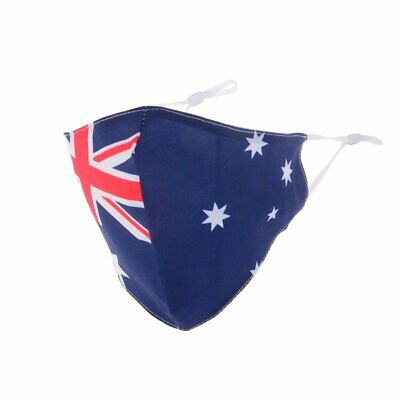 Re-useable & washable Face Mask with Filters - Aussie Flag Maskit
