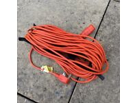 Lawn mower or trimmer extension lead