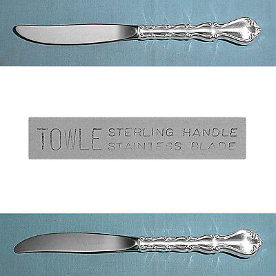 "TOWLE STERLING 9 1/8"" MODERN HOLLOW KNIFE(S) ~ COUNTRY MANOR ~ NO MONO"