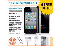 """iphone 4S 16GB """"B"""" Grade Free Delivery 1709"""