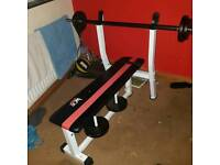 Weights bench and bar