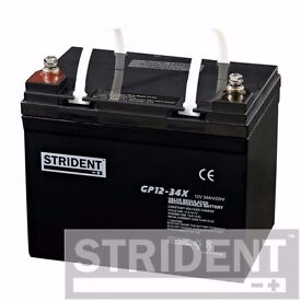 Strident AGM GP12-34 Rechargeable Battery (12V 34Ah) mobility scooter